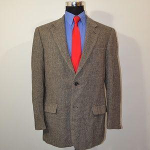 Grant Thomas 42L Sport Coat Blazer Suit Jacket Bla